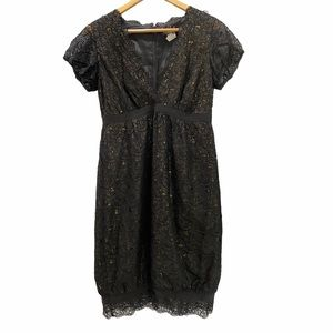 Nicole Miller Collection Silk Embroidered Dress 6